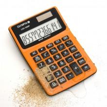 Tischrechner LCD-1000P, orange, 1-zeiliges LC-Display mit 12 Stellen,