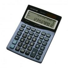 Tischrechner LCD-4312, stahlblau, 3-zeiliges LC-Display, je Zeile