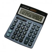 Tischrechner LCD-6112, stahlblau, 1-zeiliges LC-Display mit 12 Stellen,