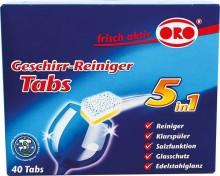 ORO Spülmaschinen Tabs 5 in 1, 40 x 20 g, in Standard- Folie