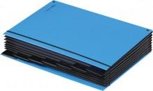 Pultordner 7 Fächer, hellblau