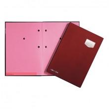 Unterschriftsmappe 10-teilig DE LUXE rot, für A4, Kunststoffeinband