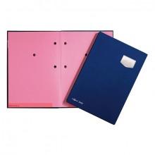 Unterschriftsmappe 10-teilig DE LUXE blau, für A4, Kunststoffeinband