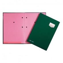 Unterschriftsmappe 10-teilig DE LUXE grün, für A4, Kunststoffeinband