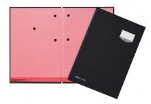 Unterschriftsmappe 10-teilig DE LUXE schwarz, für A4, Kunststoffeinband