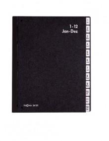 Pagna Pultordner mit 12 Fächern in schwarz