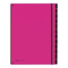 Pagna Pultordner in pink mit 12 Fächern