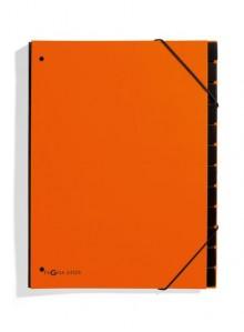 Pagna Pultordner in orange mit 12 Fächern