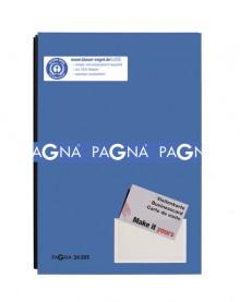 Unterschriftsmappe, blau, Einband aus Hartpappe mit