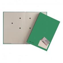 Unterschriftsmappe, grün, Einband aus Hartpappe mit
