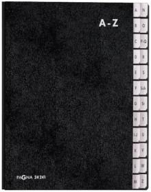 Pagna Pultordner in schwarz mit 24 Fächern
