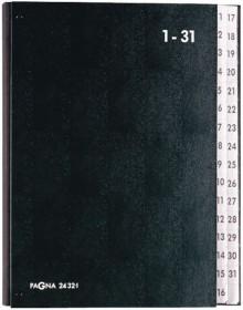 Pagna Pultordner in schwarz mit 31 Fächern