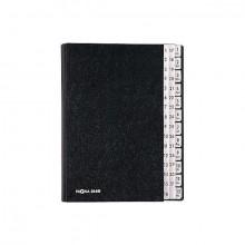 Pultordner 1-12+1-31 schwarz Einband aus Hartpappe mit
