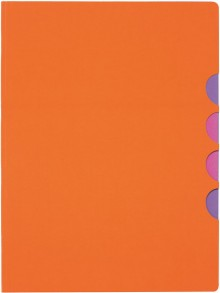 Ordnungsmappe 5 Fächer, Style UP, orange