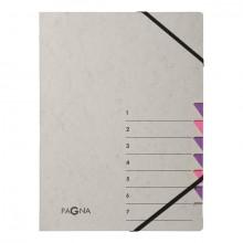 Ordnungsmappe Easy Grey , A4, 7 Fächer, lila