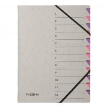 Ordnungsmappe Easy Grey , A4, 12 Fächer, lila