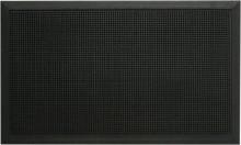 Gummifußmatte 80 X 100 cm, schwarz 100% Kautschuk
