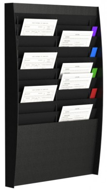Sortiertafel hoch 2x10 Fächer A4 schwarz, Außenmaß:86,5x54,4x10,6