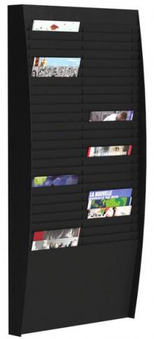 Sortiertafel hoch 2x25 Fächer A4 schwarz, Außenmaß:112x54,4x12,9