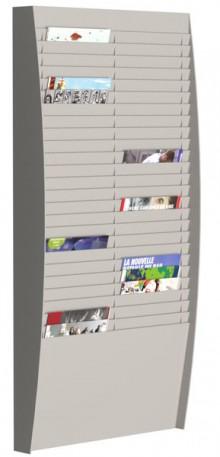 Sortiertafel hoch 2x25 Fächer A4 grau, Außenmaß:112x54,4x12,9