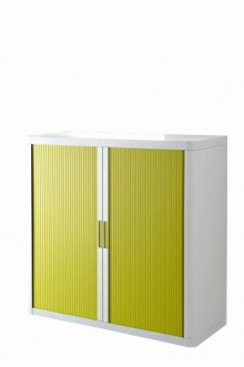 Rolladenschrank Stecksystem easyOffice weiss / grün 1m