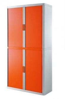 Rolladenschrank Stecksystem easyOffice weiss / orange 2m