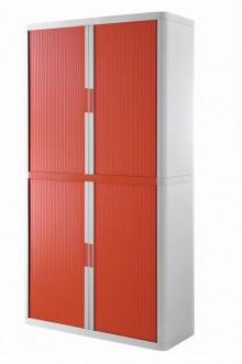 Rolladenschrank Stecksystem easyOffice weiss / rot 2m