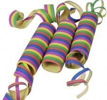 Luftschlangen 4 m Stripes, flammhemmend