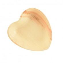Teller pure Herz, 15,5 cm aus Palmblatt