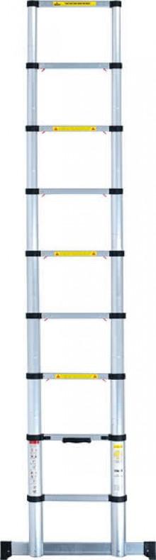 Teleskop-Leiter 84 cm bis 3,20 m ausziehbar, 10 Stufen, Aluminium