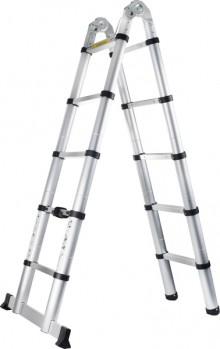 Doppelt Teleskop Leiter 2x5 Stufen max. Belastung: 150kg