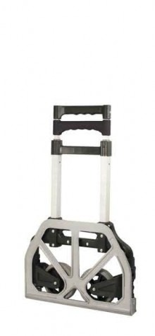 Handkarre klappbar, Alu, max. 75 kg belastbar, 2 Rollen, Griff ausziehbar