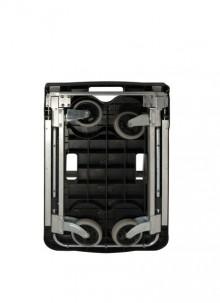 Plattform-Wagen klappbar, max. 150 kg belastbar, 4 Rollen, schwarz/silber
