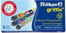 Griffix Tintenpatrone 4001 GTP/5 Großraum, königsblau