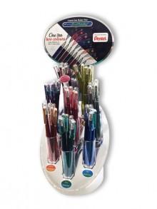Glitter-Gel Stifte, 48er Display Ein Stift = zwei Farben # K110-4E