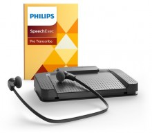 SpeechExec Pro Transkription Set V10 Fußschalter, Kopfhörer, Software