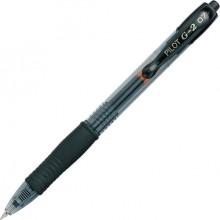 Gelschreiber G2, mit Druckmechanik Edelstahlspitze, 0,4mm, schwarz