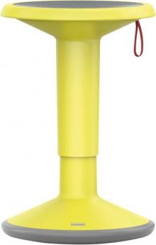 Hocker upis1, höhenverstellbar, zitronengelb, Maße BxH: 330x450-630mm