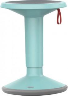 Hocker upis1, höhenverstellbar, pastelltürkis, Maße BxH:330x450-630mm