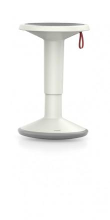 Hocker upis1, höhenverstellbar, grau/weiß, Maße BxH: 330 x 450-630 mm
