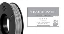 PLA Filament grau 326gr, 1,75mm Temperaturbereich 190 - 220 °C