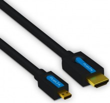 Hiegh Speed HDMI/Micro HDMI-Kabel, mit ethernet, 1,5m, 4K 3D FullHD