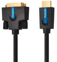 High Speed HDMI/DVI Single Link Kabel, 5,0m, WUXGA FullHD vergoldet