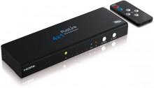 HDMI Umschalter, 4x1+Audio, mit integriertem Signalvertärker