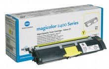 Toner Cartridge yellow für Magicolor 2400 Serie,2500 W,2530 DL,2550