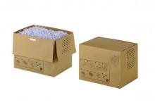Abfallsäcke braun befüllt und geschlossen