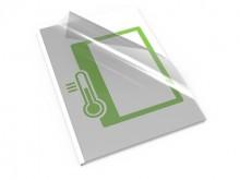 Thermo-Bindemappe, A4, 4 mm, weißer Karton mit klarem Deckblatt