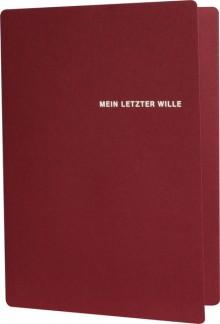 """Mappe """"Mein letzter Wille"""", 225x310mm"""