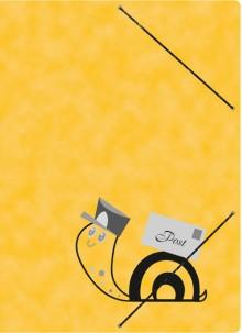 Postmappe A4, Schneckenpost, mit Gummizugverschluß, Maße 240 x 330 mm
