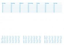 Schreibunterlage, 600x420mm, blanko/kalendarium, 30 Blatt
